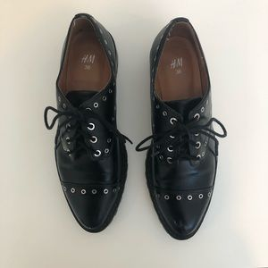 H and M studded black oxford